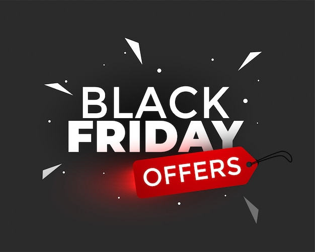 Black friday offers creative banner design Free Vector