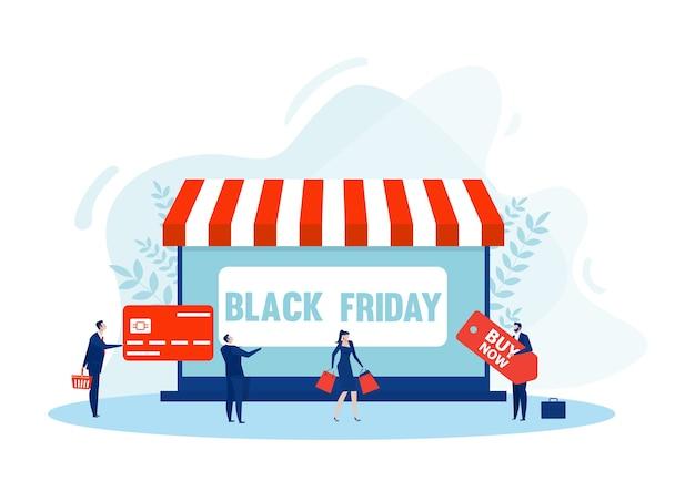 Черная пятница интернет-магазины. магазин планшетов, электронная коммерция, покупка сумок электронная коммерция, маркетинговые покупки, Premium векторы