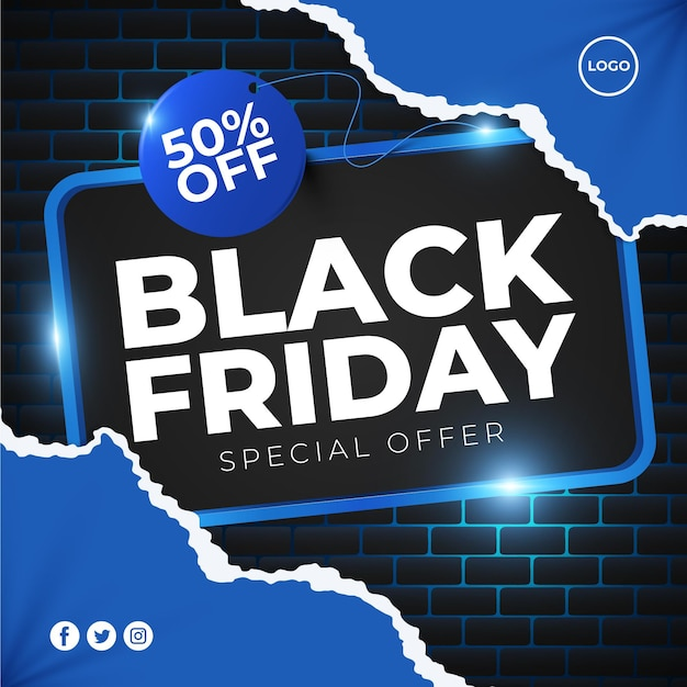 Black friday in paper style Premium Vector