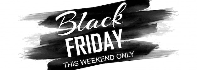 Black friday poster or banner sale promotion Free Vector