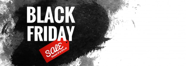 Black friday poster or banner Free Vector