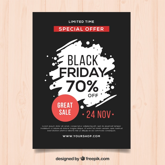 Black friday poster template Free Vector