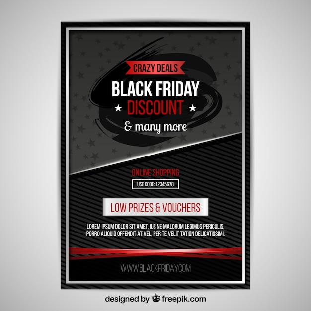 Black friday poster with modern style Free Vector