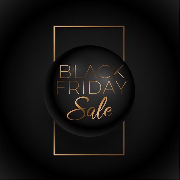Black friday premium golden sale background Free Vector