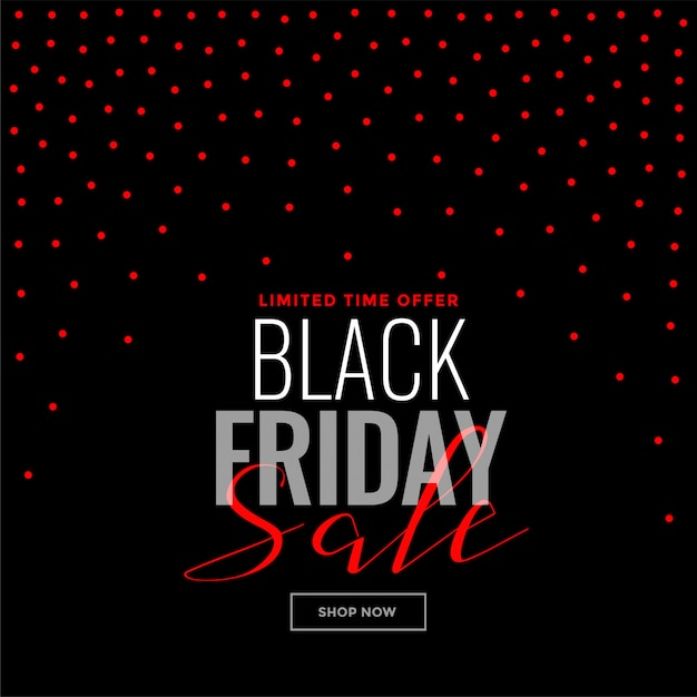 Black friday red dots background sale template Free Vector