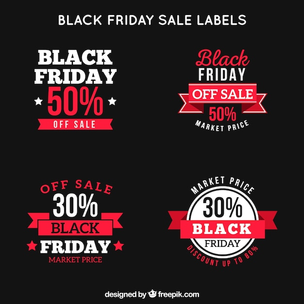 Black friday retro labels set