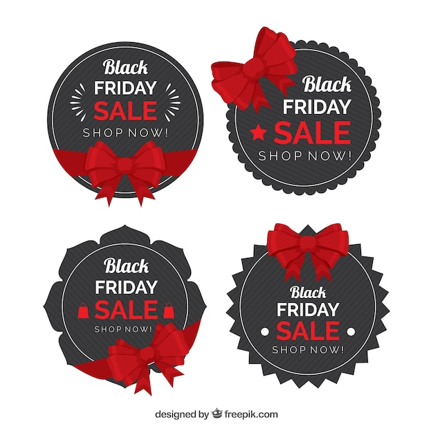 Black friday round badges