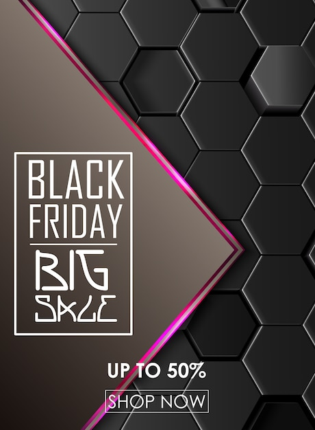 Black friday sale abstract background | Premium Vector