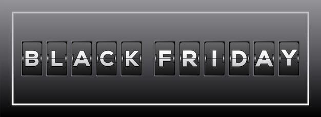 Premium Vector Black Friday Sale Analog Flip Clock