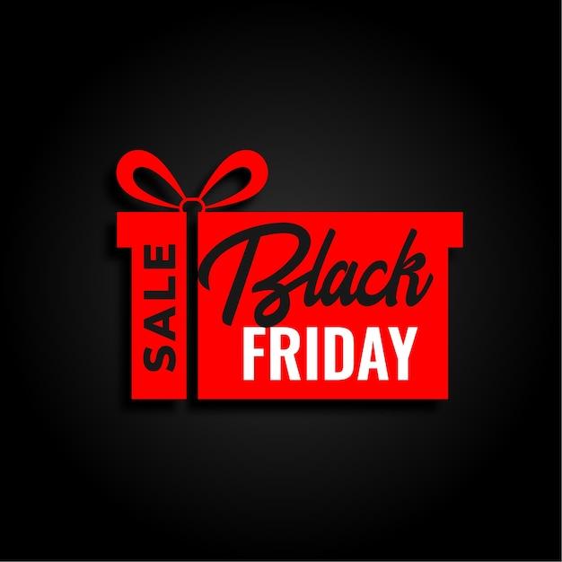 Черная пятница продажа и красный подарок дизайн фона Бесплатные векторы