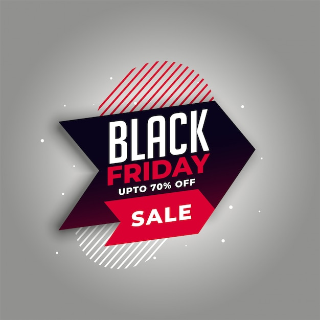 Black friday sale  in arrow style Free Vector