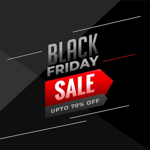 Black friday sale background in dark colors Free Vector