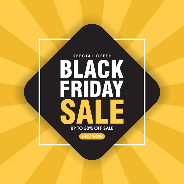 Black friday sale background geometric background Premium Vector