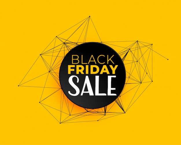Black friday sale background in technology network lines Free Vector