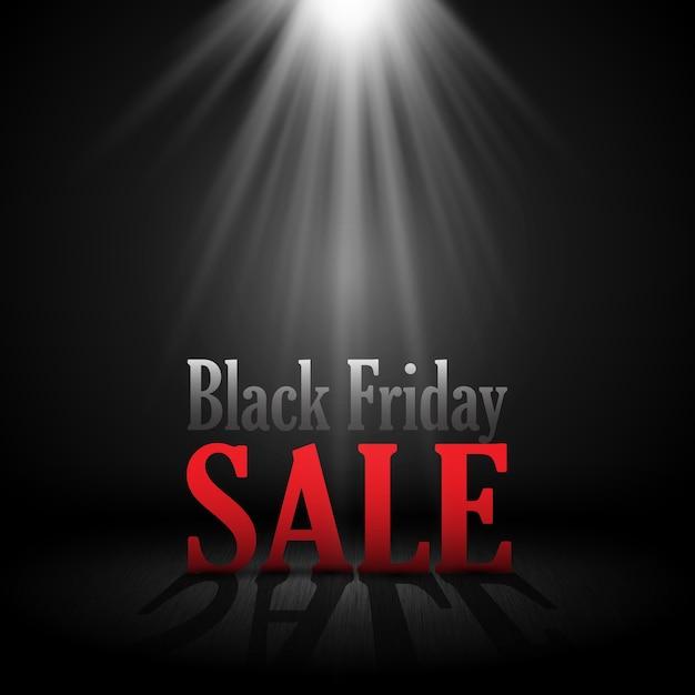 Черная пятница продажа фон с буквами в центре внимания Бесплатные векторы