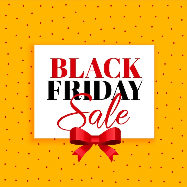 Black friday sale background with red ribbon Free Vector