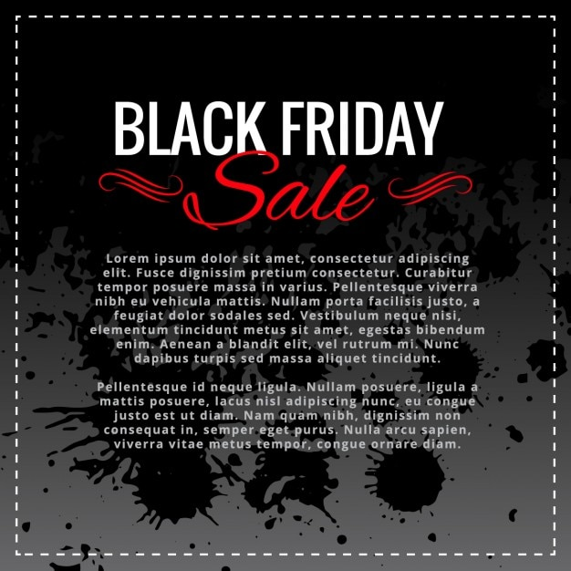 Black friday sale background with space for your text Free Vector