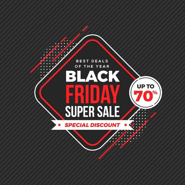 Black friday sale background Premium Vector