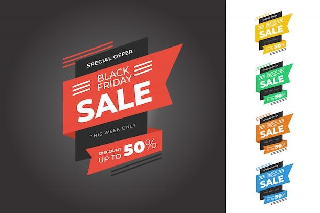 Black friday sale banner bundle template Premium Vector