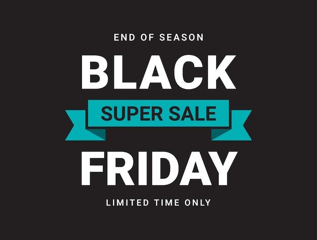 Black friday sale banner layout design template. Premium Vector