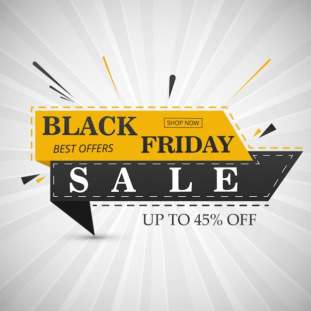 Black friday sale banner layout design vector illustration Premium Vector