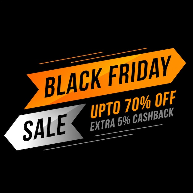 Black friday sale banner in modern style Free Vector