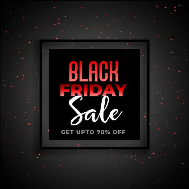 Black friday sale banner in red and black theme Free Vector