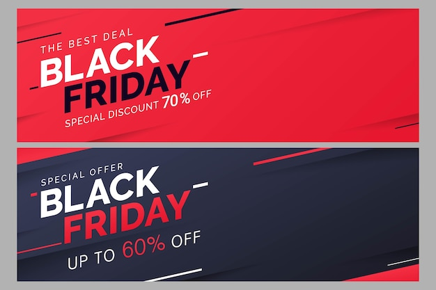 Черная пятница распродажа баннер шаблон для продвижения бизнеса Premium векторы