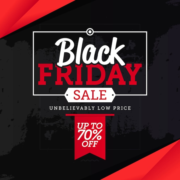 Black friday sale banner template vector Premium Vector