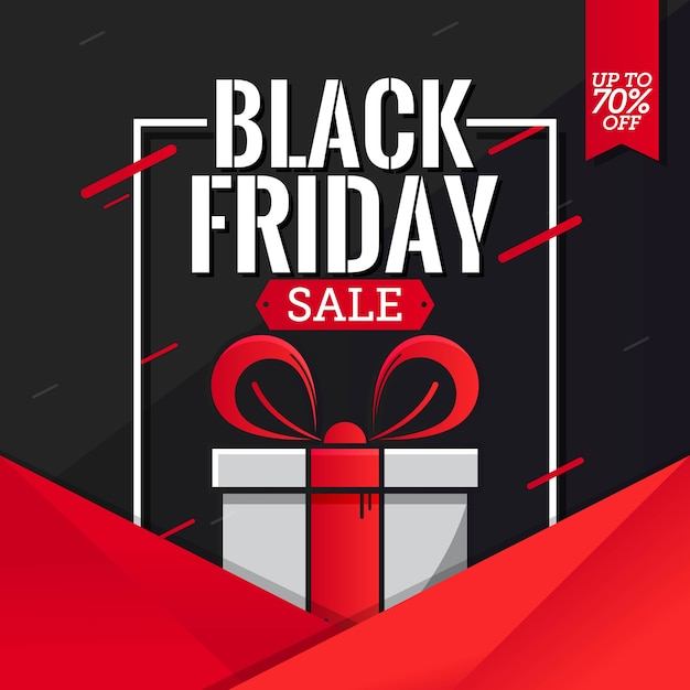 Black friday sale banner template vector Premium Vector