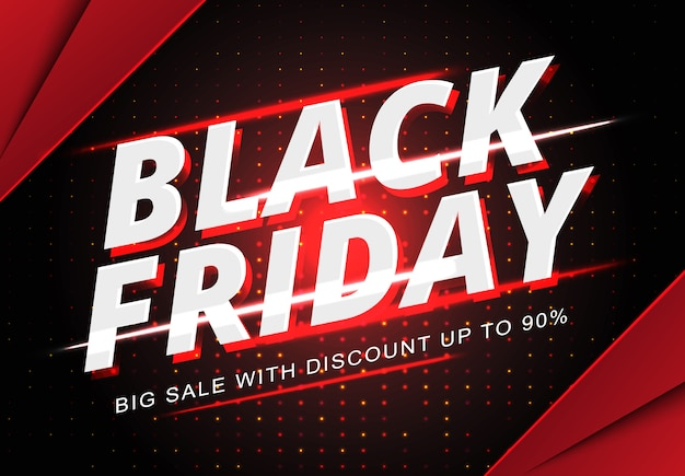 Black friday sale banner template Premium Vector