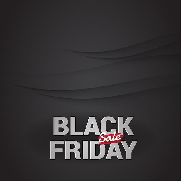 Black friday sale banner vector. Premium Vector