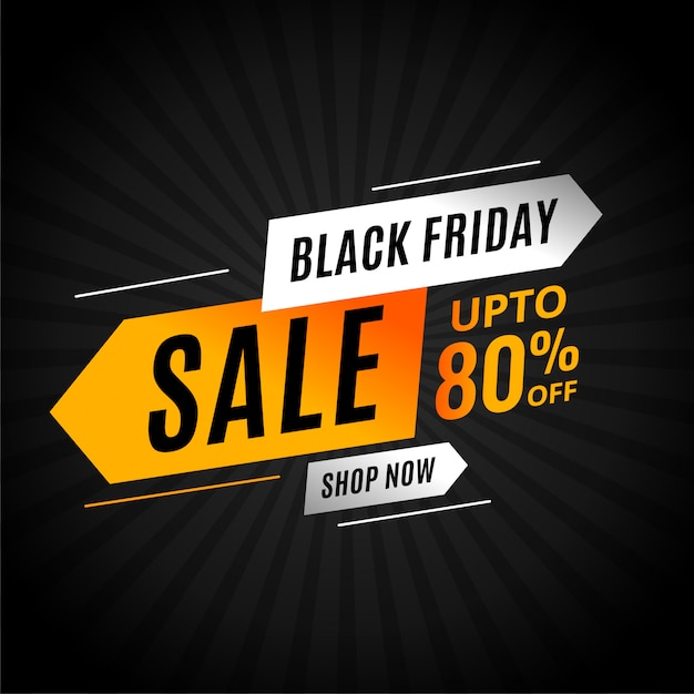 Black friday sale banner with arrow style modern Free Vector
