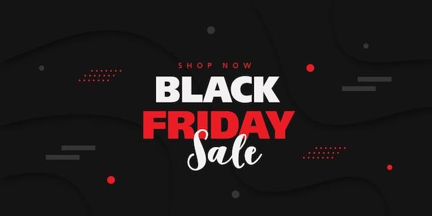Черная пятница продажа баннер с фоном в 3d стиле. Premium векторы