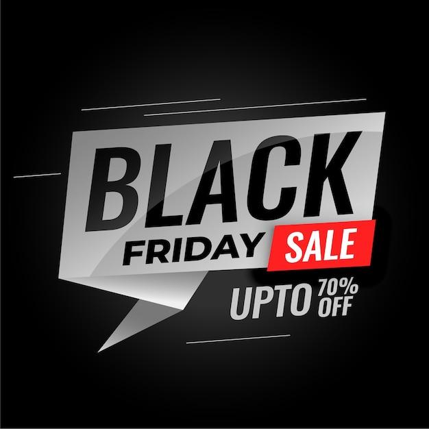 Banner di vendita venerdì nero con dettagli di sconto Vettore gratuito