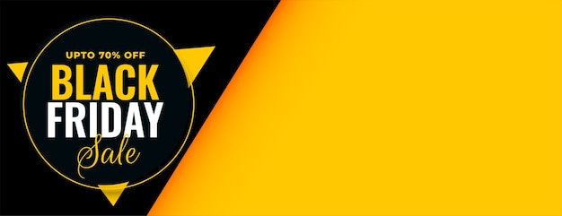 Banner di vendita venerdì nero con offerta di sconto Vettore gratuito