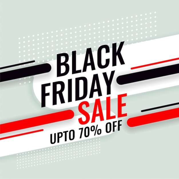Black friday sale banner with offer details Free Vector