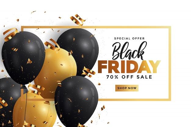 Black friday sale banner Premium Vector
