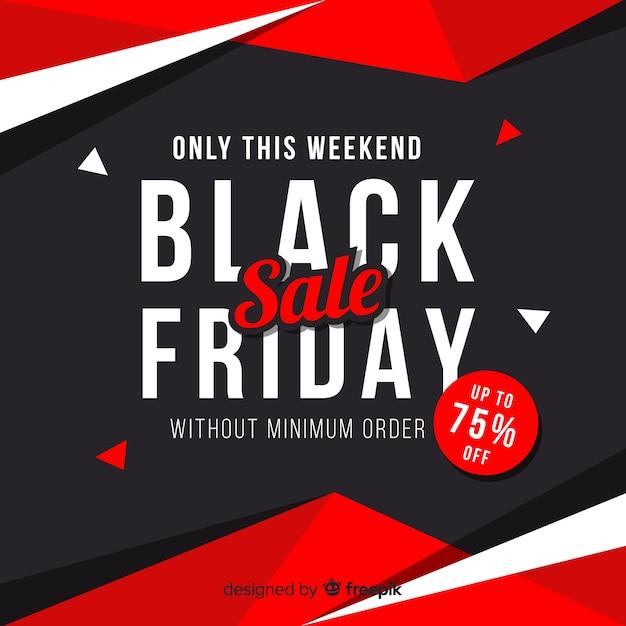 Black friday sale banner Free Vector