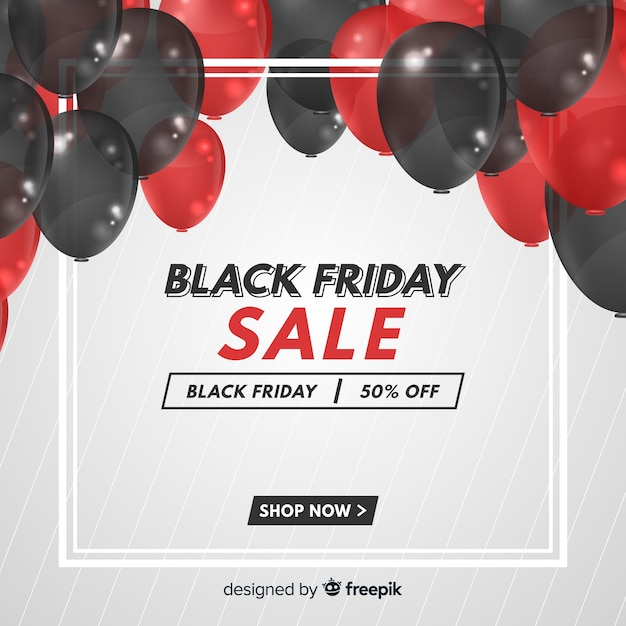 Black friday sale banner Free Vector