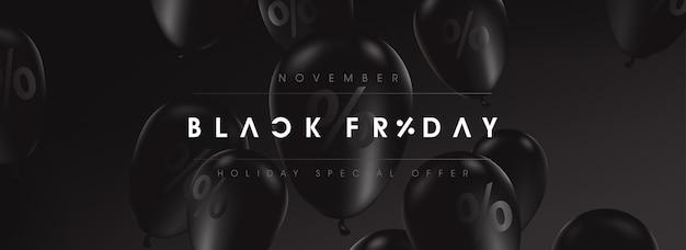 ブラックフライデーセールバナー Premiumベクター