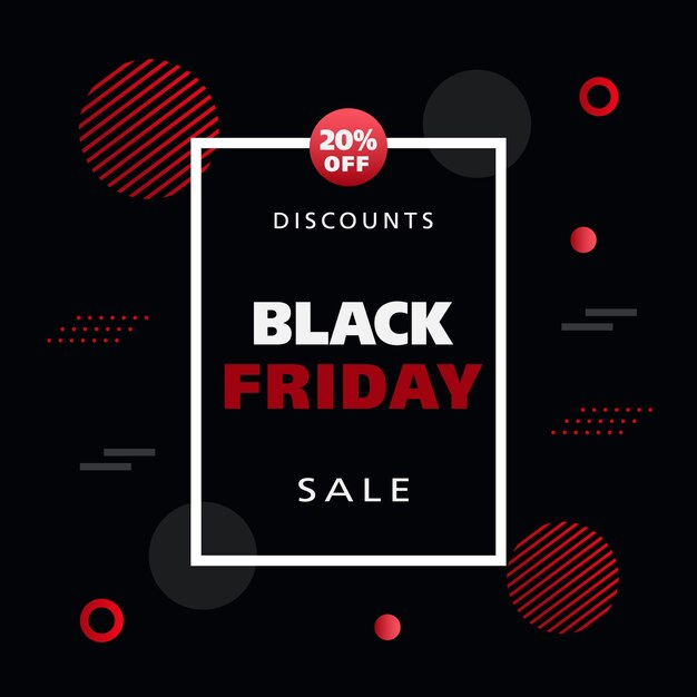 Black friday sale banner Premium Vector