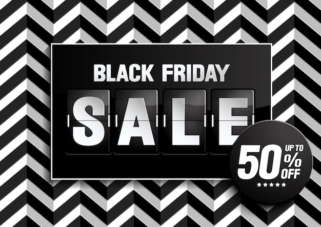 Black friday sale black color Premium Vector