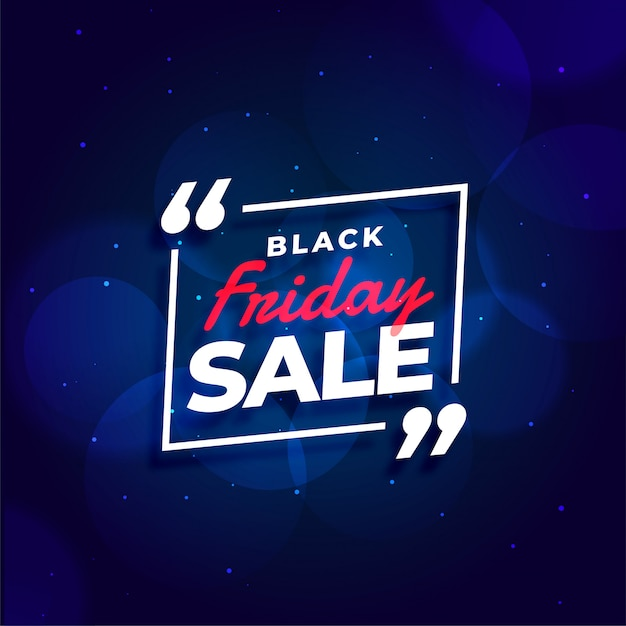 Black friday sale blue banner template Free Vector