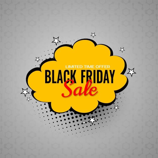 검은 금요일 판매 거래 및 만화 스타일 배경 제공 무료 벡터