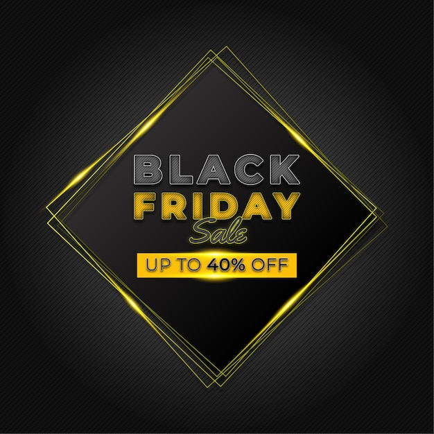 Черная пятница продажа дизайн баннера шаблон Premium векторы
