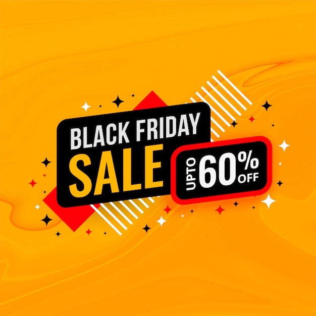 Black friday sale and discount banner template Free Vector