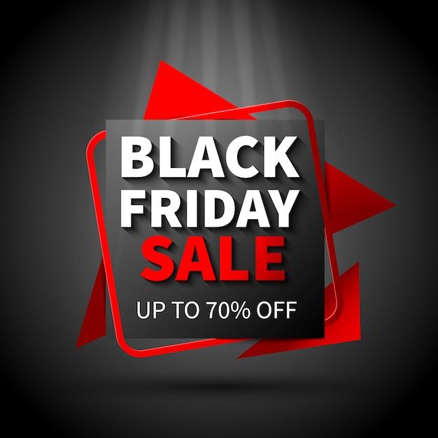 Black friday sale flat design banner template Free Vector