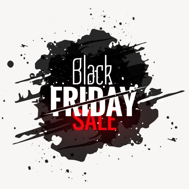 Black friday sale grunge style label Free Vector