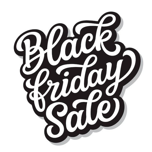 Black friday sale. hand lettering Premium Vector